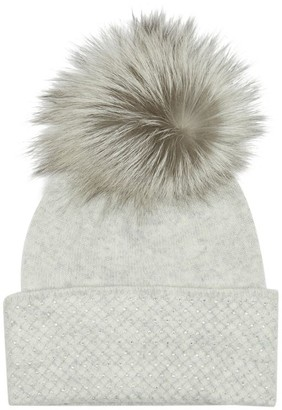 William Sharp Scatter Swarovski Embellished Fur Bobble Hat