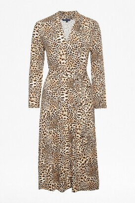 French Connection Animal Print Slinky Jersey Dress