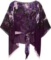 Roberto Cavalli Printed Silk-georgette Top - Purple