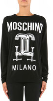 Moschino Long-Sleeve Cashmere Sweater, Black