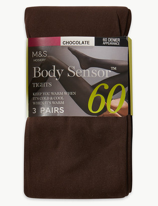 Marks and Spencer 3 Pair Pack 60 Denier Body Sensor Tights