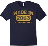 Børn Men's in 2003 Tshirt 14th Birthday Gifts 14 yrs Years Made in 3XL