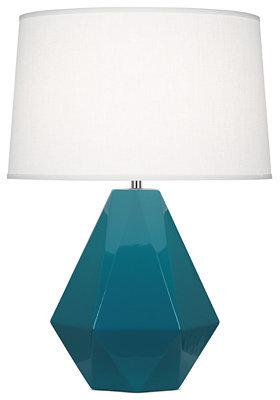 Rob-ert Robert Abbey Table Lamp, Delta Peacock