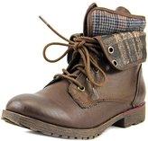 Rock & Candy Women's Spraypaint Combat Boot, Brown, Size 8.0