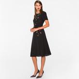 Paul Smith Women's Black Silk Dress With Jewel Embellishments