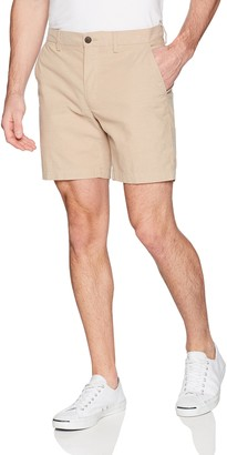 "Goodthreads Amazon Brand Men's Slim-Fit 7"" Inseam Lightweight Comfort Stretch Oxford Shorts"
