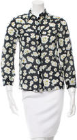 Alice + Olivia Floral Button-Up Top
