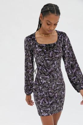 Daisy Street Jessica Long Sleeve Mini Dress