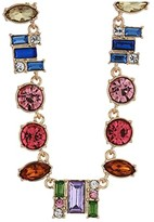 GUESS Mixed Colored Stone Collar Necklace (Gold/Multi) Necklace