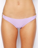 Mileti Bikini Bottom With Open Gold Rings