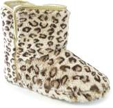 Universal Textiles Womens/Ladies Leopard Print Furry Boot Slippers
