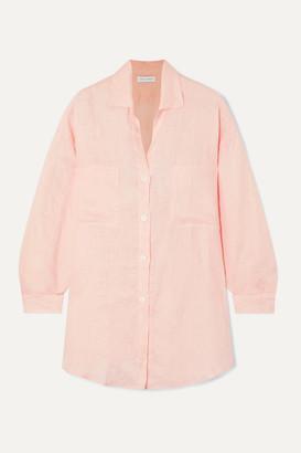 Faithfull The Brand Marbella Cotton-gauze Shirt - Pastel pink