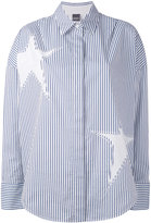 Lorena Antoniazzi striped star shirt - women - Cotton/Lyocell - 38