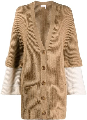 See by Chloe Layered Sleeves Cardigan