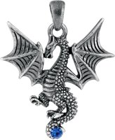 Summit New Blue Tatsu Dragon Pendant Collectible Accessory Serpent Necklace