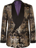 Ralph Lauren Purple Label - Slim-fit Double-breasted Silk-jacquard Tuxedo Jacket
