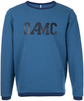 Oamc logo print jumper - men - Cotton/Polyamide/Spandex/Elastane - S