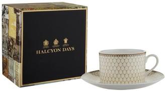 Halcyon Days Antler Trellis Teacup and Saucer