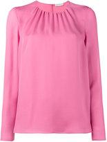 Etro gathered long sleeve blouse - women - Silk - 38