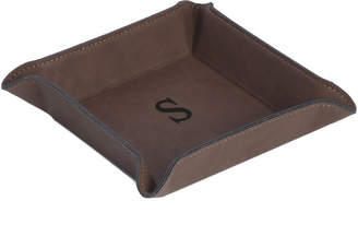 Bey-Berk Bey Berk Square Valet In Rustic Brown Leatherette