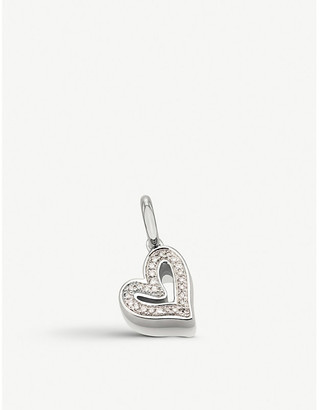 Monica Vinader Alphabet Heart sterling silver and diamond pendant