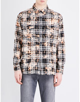 Saint Laurent Checked Regular-fit Cotton Shirt