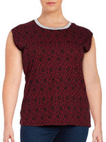 MICHAEL Michael Kors Plus Lace-Print Top