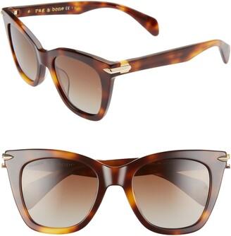 Rag & Bone 52mm Polarized Cat Eye Sunglasses
