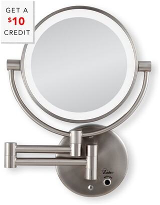 Zadro 5X/1X Cordless Led Lighted Wall Mount Mirror