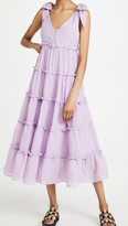 Thumbnail for your product : ENGLISH FACTORY Tiered Midi Dress