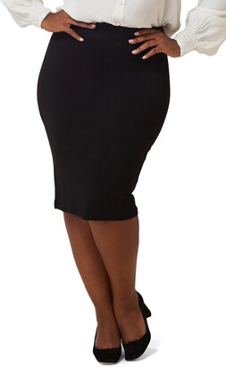 Marée Pour Toi Compression Knit Pencil Skirt
