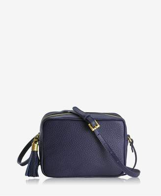 GiGi New York Madison Crossbody In Moss Pebble Grain