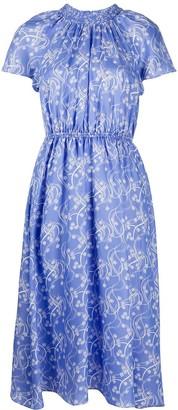 Kenzo Urchin Waves print midi-dress