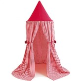 The Well Appointed House BARGAIN BASEMENT ITEM: Child's Red Gingham Hanging Play Tent