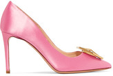 Nicholas Kirkwood Eden Jewel Crystal-embellished Satin Pumps - Pink