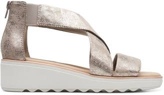 Clarks Collection Wedge Sandals - Jillian Rise