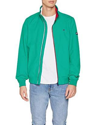 Tommy Jeans Men's TJM Essential Casual Bomber Jacket, (Dynasty Green 399), L