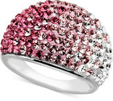 Kaleidoscope Sterling Silver Ring, Pink Crystal Ring with Swarovski Elements