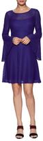 Nanette Lepore San Fran Eyelet Fit And Flare Dress