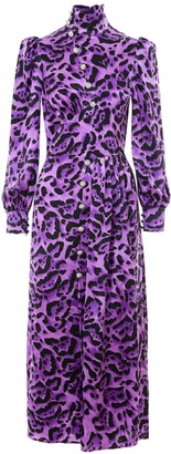 Alessandra Rich Leopard Print Dress