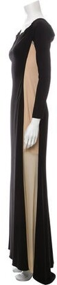 Zac Posen Square Neckline Long Dress Black