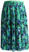 Banana Republic PLEATED GINA WILDFLOWER Pleated skirt green