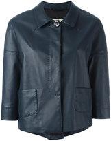 Herno cropped jacket - women - Lamb Skin/Polyester/Acetate - 42