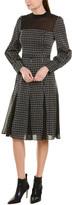 Bcbgmaxazria High-Neck A-Line Dress