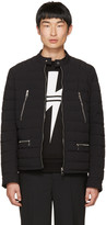 Neil Barrett Black Quilted Nylon Sport Jacket