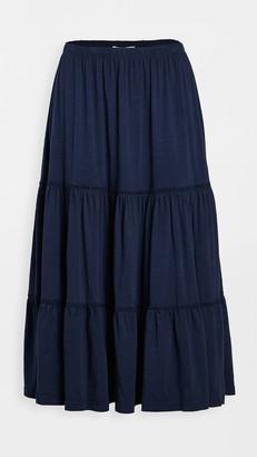 Sundry Tiered Midi Skirt