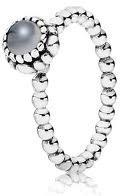 Pandora Ring Birthday Blooms June, Moonstone, Size 56 Eur