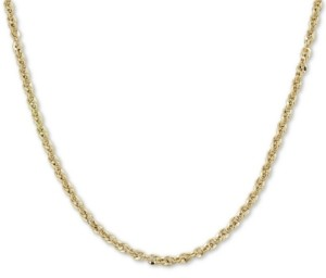 "Macy's Italian Gold Rope 18"" Chain Necklace (3-3/4mm) in 14k Gold, Made in Italy"