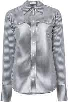 Tome pinstripe shirt with chest cutouts