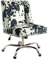 Linon Violet Office Chair - Cow Print
